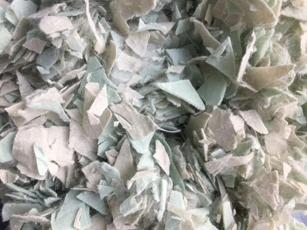 Vlieshäcksel mintgrün verfestigt (Made in Germany)